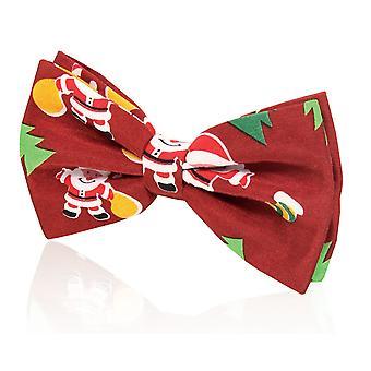 Doball 'Blij Santa Claus' Christmas strikje (vooraf gebonden & zelf binden)