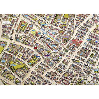 Cityscapes Street Map Of Cheltenham 400 Piece Jigsaw Puzzle 470mm x 320mm (hpy)
