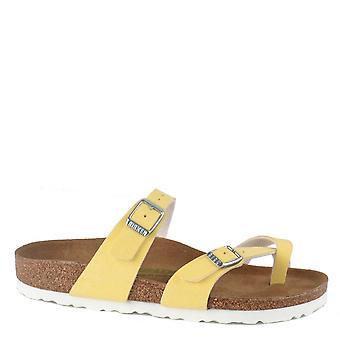 Birkenstock Mayari Brushed Vanilla Cross Strap Sandal
