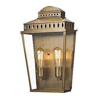 Stead-1 Light Large Wall Laterne-Messing Finish-MANSION HS/L BR