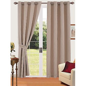 Comfort Collection Eyelet Curtain - Link (Taupe)