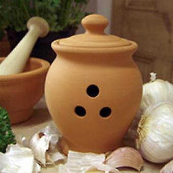 Terracotta Garlic Pot