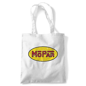 Mopar American Muscle Tote | Muscle Sovrcharged V8 vintage potenza Racing Mopar | Riutilizzabile Shopping cotone tela lunga gestita naturale shopper eco-friendly moda