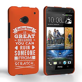 Caseflex paternità divertente citare caso HTC One – Orange