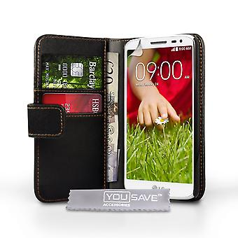 YouSave Accessories LG G2 Mini Leather-Effect Wallet Case - Black