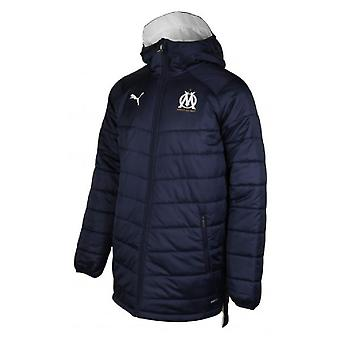 2019-2020 Olympique Marseille Puma Reversible Bench Jacket (Navy)