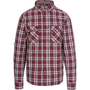 Trespass Mens Shottery Button Down Long Sleeve Casual Shirt
