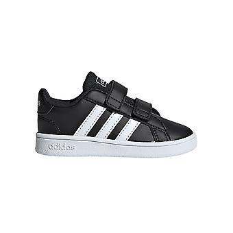 Adidas Большой суд Младенец Дети Спорт Мода Тренер Обувь Черный / Белый