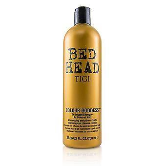 Tigi Bed Head Colour Goddess Oil Infused Shampoo - For Coloured Hair (cap) - 750ml/25.36oz