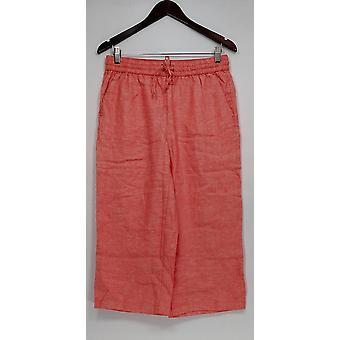Liz Claiborne New York Women's Petite Pants Jackie Cropped Orange A254845