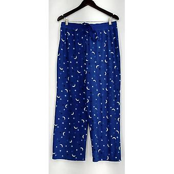Carole Hochman Lounge Pantalones, Sleep Shorts Waffle Fleece Novelty Azul A294077