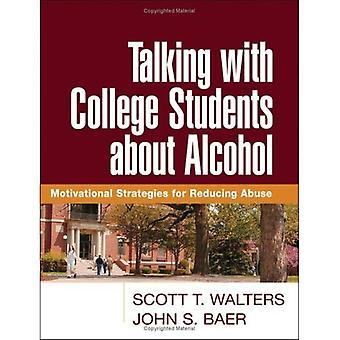 Parler avec les étudiants du collège au sujet de l'alcool