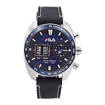 Fila Men's Watch Wristwatch DRUM ROLLER 38-846-004 Leather