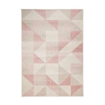 Urban Triangle Blush Pink  Rectangle Rugs Modern Rugs