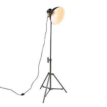 QAZQA Industrial floor lamp tripod black - Mangoes