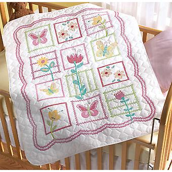 Sophie Crib Cover Stamped Cross Stitch Kit 34