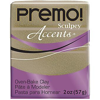 Accents de PREMO Sculpey Polymer Clay paillettes d'or jaune-2oz PE022-5147