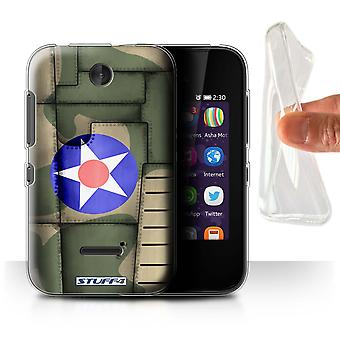 STUFF4 Gel/TPU Case/Cover for Nokia Asha 230/America/Green/Airplane Fighter Wing