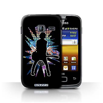 STUFF4 Case/Cover for Samsung Galaxy Y Duos/S6102/Emotion Black/Rock Star Pose