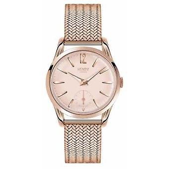 Henry London forgyldt kvindes Rose Gold Dial Rose Mesh rem HL30 UM 0164 Watch