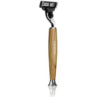Mondial 1908 Razor Wood Olivo (Man , Shaving , Shavers , Facial)