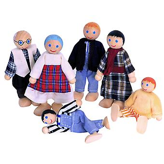 6 Bend Puppen In traditionellen Familie