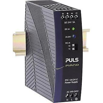 Rail mounted PSU (DIN) PULS Piano 24 Vdc 5 A 120 W 1 x