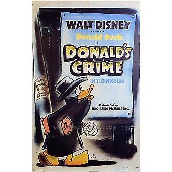Donalds crimen película Poster Print (27 x 40)