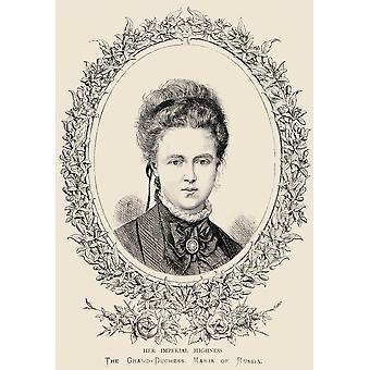 Maria Aleksandrowna jej Imperial Wysokość Wielka księżna Rosji 1853 1920 PosterPrint