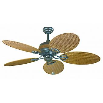 Outdoor Ceiling Fan Wicker with pull cord 122 cm / 48