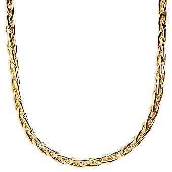 Iced out bling SLIM BASKET chain - 4mm gold