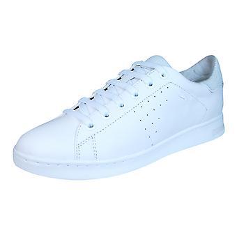 Geox D Jaysen A Womens lederen Trainers / schoenen - helemaal wit