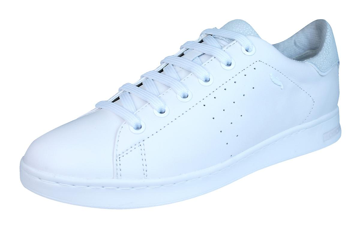 Geox D Trainers Jaysen A Womens Leather Trainers D / Shoes - All White d8d8f9
