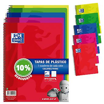 Oxford Pack 5 Bloc Plástic 90G F80 (Toys , School Zone , Notebooks And Folders)