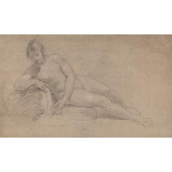 William Hogarth - Study of a Female Nude Poster Print Giclee