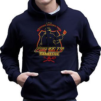 Fireballs BBQ Running Man Men's Hooded Sweatshirt