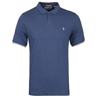 Pinguino Vintage indaco manica corta Piquet Slim Fit Polo Shirt