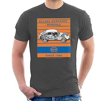 Haynes Workshop Manual 0084 VW 1600 Fastback Stripe Herren T-Shirt