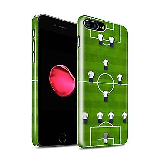 STUFF4 Glanz zurück Snap-On Handy Hardcase für Apple iPhone 7 Plus / 4-1-2-1-2/White Design / Fußball-Bildung-Kollektion