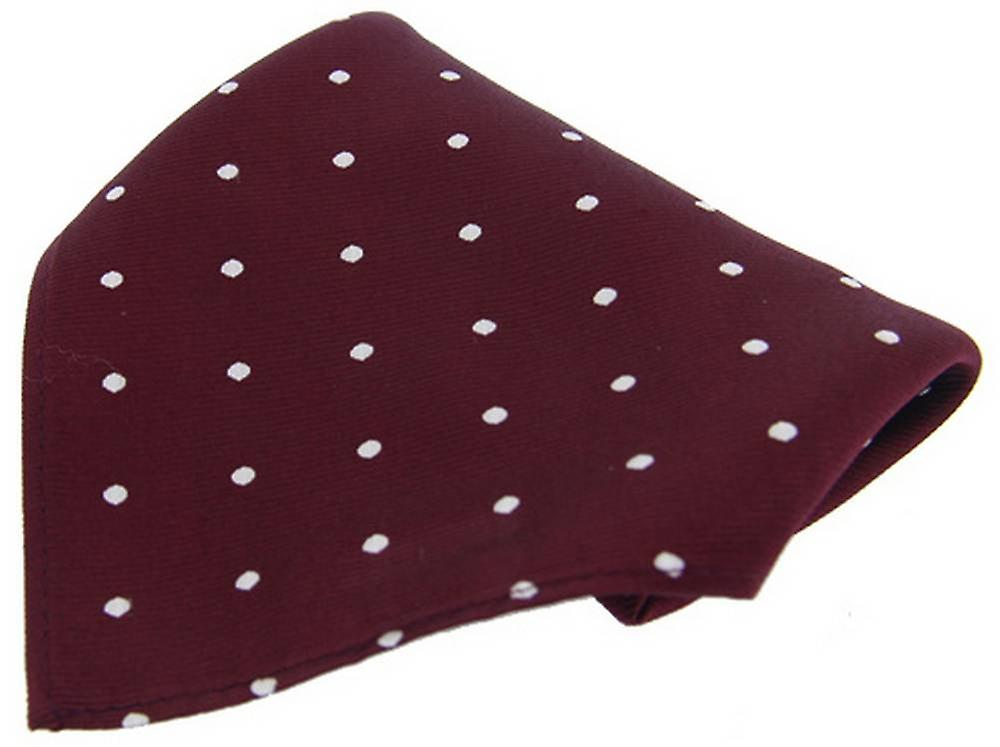 David Van Hagen Polka Dot Handkerchief - Wine/White