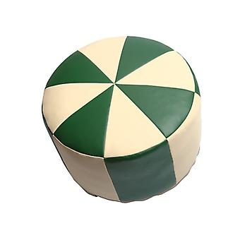 Seat cushion Orient pillows around synthetic leather green/champagne width 50 cm, height 34 cm