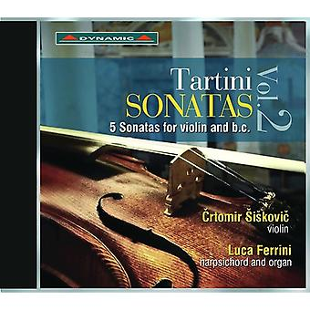 Tartini / Siskovic / Ferrini - Giuseppe Tartini: 5 Sonatas for Violin & BC [CD] USA import