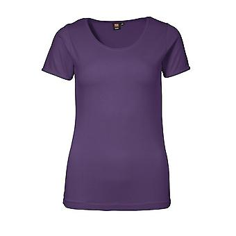 ID Womens/Ladies Stretch Fitted Short Sleeve T-Shirt