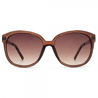 M:UK Carnaby Chic Round Sunglasses In Crystal Brown