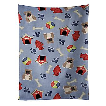 Dog House Collection English Bulldog Grey Brindle  Kitchen Towel