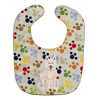キャロラインズ宝物 BB5874BIB Pawprints ホワイト シェパード スタイ