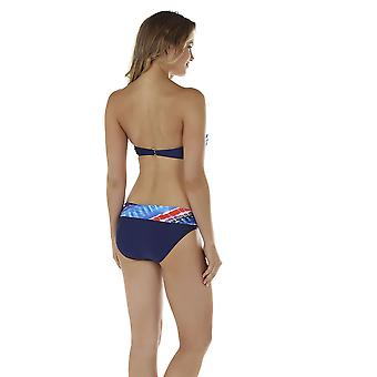 Seaspray 08-1350 Frauen Crete blau und Orange Bikini Bottom