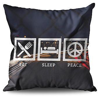 Eat Sleep Freedom Linen Cushion Eat Sleep Freedom | Wellcoda