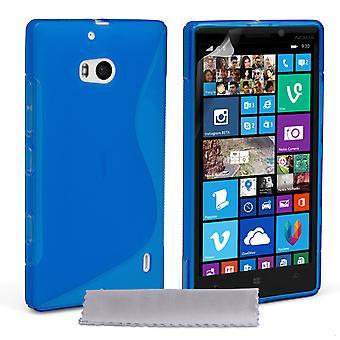 Caseflex Nokia Lumia 930 silikonowy żel S-Line Case - niebieski
