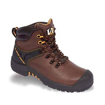 V12 VR601 Cougar Brown Waxy Hiker Boot EN20345:2011-S3 Size 6